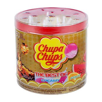 Chupa Chups - The Best of Cola, Creamy, and Fruit - Lollipops (60 count, Net weight 1.58 LBS) (1 pack)