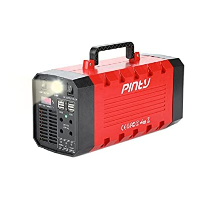 Pinty Portable Uninterrupted Power Supply 500W, UPS Battery Backup, Rechargeable Generator Power Source with AC Inverter, USB, DC 12V Outputs for Outdoors and Indoors