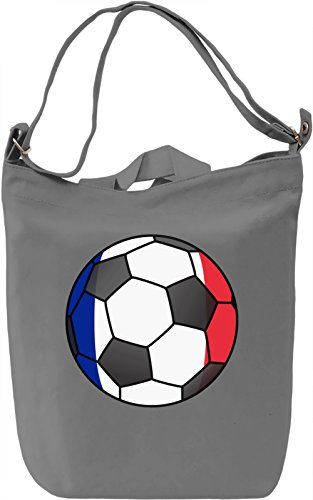 France Football Borsa Giornaliera Canvas Canvas Day Bag| 100% Premium Cotton Canvas| DTG Printing|