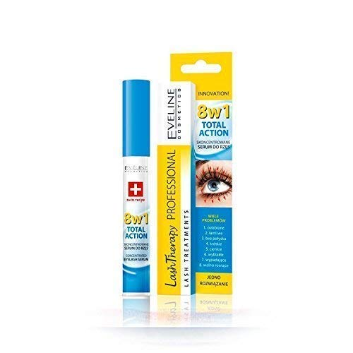 (Eveline Cosmetics Multi-purpose Eyelash Serum Total Action 8 in 1, 0.33 Fluid Ounce)