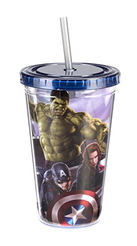 Vandor 26814 Marvel Avengers Age of Ultron Acrylic Travel Cup, 18-Ounce, Multicolored