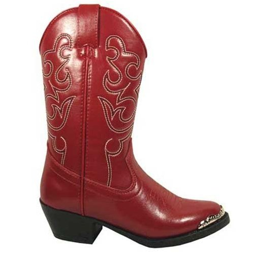 Smoky Mountain Toddler-Girls' Mesquite Western Boot Round Toe Red 7.5 D(M) US