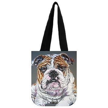 fourre Eco Toile Sac personnalisés Sacs Bulldog cabas 2 réutilisables Côtés anglais tout Artswow qwZT4BK