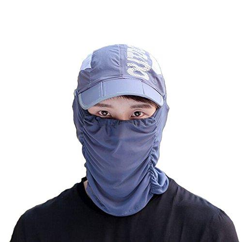 ファションヤ 日よけ帽子 ゴルフ レディース メンズ 男女兼用 フェイスマスク フェイスカバー ネックカバー 薄地 紫外線 UVカット 日よけ止め アウトドア 折りたたみ