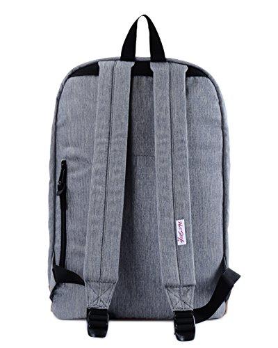 HotStyle 915s Vintage mochila colegio 24L - Impermeable para portatil de 15-inch - Negro D104B, Gris