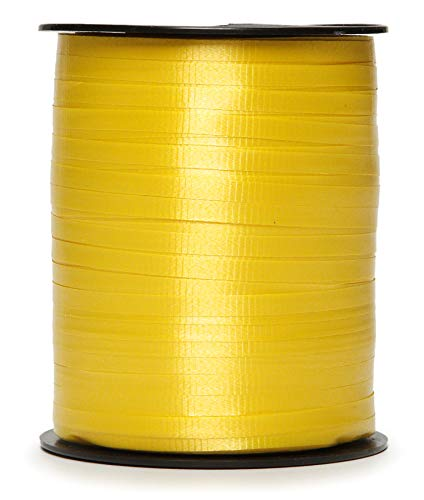 Darice 1-22/R5-ST24 Curling Ribbon Gold Crimped.187Inx500Yd Spool