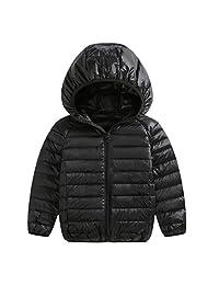 Zhhlinyuan Girls Boys Jacket Autumn Winter White Duck Down Jacker for Kids Coat