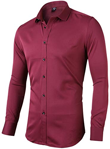 Mens Jacket Bamboo - FLY HAWK Mens (Tag Size 44) Button Up Dress Shirts 17