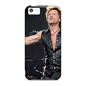 Shockproof Cell-phone Hard Covers For Iphone 5c (wzm5779ycjc) Provide Private Custom Nice Bon Jovi Band Skin