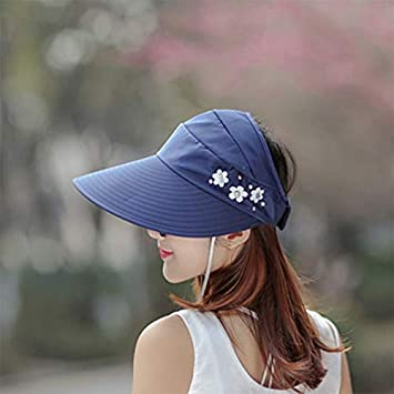 Dosige Femme Chapeau De Soleil Chapeau Pliable De Soleil Plage Anti-UV Loisirs Chapeau De Soleil Voyage