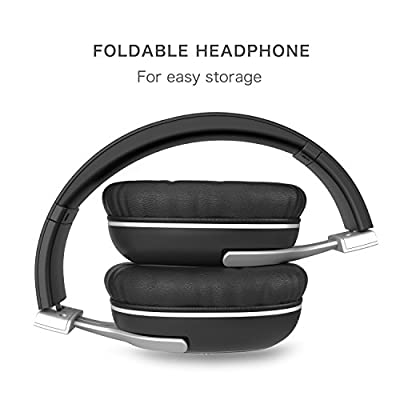 Bluetooth Over Ear Headphones, Earto E6 Bluetooth Headphone Wireless Headsets Stereo Foldable Lightweight Headphones with APT-X & Microphone Noise Isolation 23 Hours Playtime