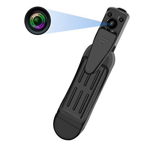 Spy Hidden Camera Upgraded- Night Vision 1080P HD Long Time Video Recording Portable Action Camera ()