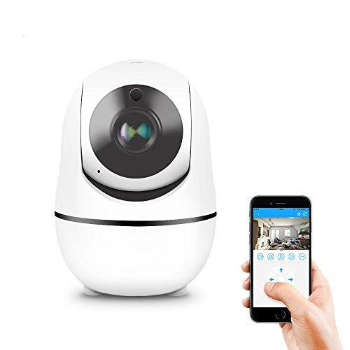 Wireless HD 1080P IP Dome Camera, Koolpod WiFi Indoor Security Surveillance System with Night Vision,Motion Detection,IOS Android App-Cloud Service Available by Koolpod