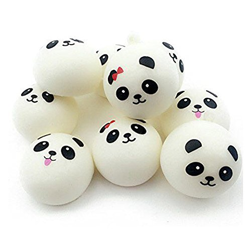 Ikevan 1pc Squishy 10cm Jumbo Squishy Cute Panda Charms Buns Cell Phone Charm Pendant Bag Strap