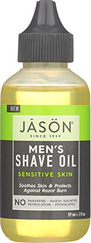 JASON Men's Sensitive Skin Shave Oil, 2 oz. (Packaging May Vary)
