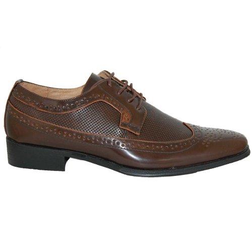 Schoenartiesten Bossman Lederen Lijn Wingtip Bruine Oxfords