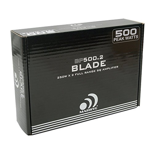 Massive Audio BP500.2 Blade 2 Stable, A/B, Amplifier