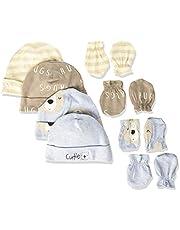مجموعة قفازات وقبعة عضوية للأطفال من جيربر بيبي بويز مكونة من 8 قطع