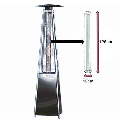 BU-KO Reemplazo del Tubo de Vidrio para el Calentador de Patio de Gas pirámide: Amazon.es: Jardín