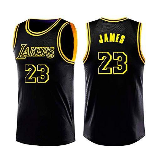 Men's Basketball Jersey-LeBron James- Lakers #23 Jersey, Sportswear, Unisex Sleeveless T-shirt Embroidered Mesh Basketball Swingman Jersey (Black, ...