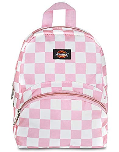 (Dickies Mini Backpack Pink/White Checkerboard & Knit Cap Bundle)