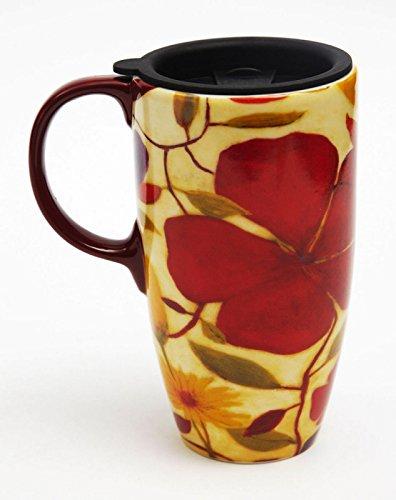 Floral Spice Latte Travel Mug (Ceramic Latte Travel Mug)