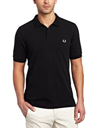 Fred Perry Men's Slim Fit Plain Shirt, Black, XX-Large