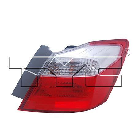 CarLights360: Fits 2013 2014 2015 Honda Accord Tail Light Assembly Passenger Side (Right) CAPA w/Bulbs HO2805101 (Trim: EX; Sedan ; Hybrid; Sedan ; LX; Sedan ; Plug-In; Sedan ; Sport; Sedan)