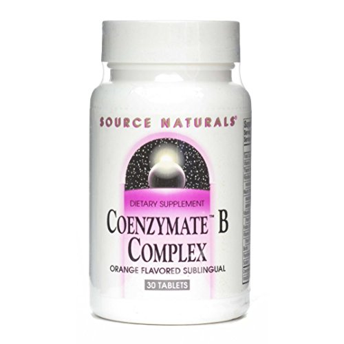 (Source Naturals Coenzymate B Complex - Fast Acting, Quick Dissolve Vitamin - Orange Flavor - 30 Tablets (Pack of 3) )