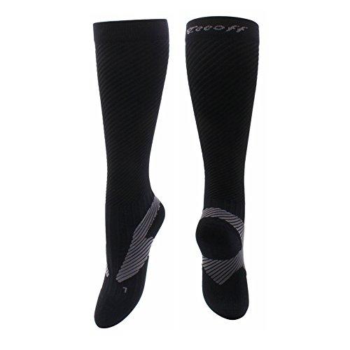 ファシズム罪悪感対人Teeoff Compression Socks 男性用女性のためのカーフコンプレッションスリーブソックスレッグパフォーマンスサポート