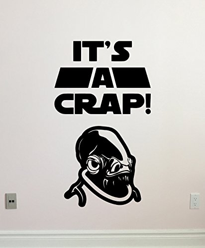 It's A Crap Wall Decal WC Toilet Vinyl Sticker Admiral for sale  Delivered anywhere in USA