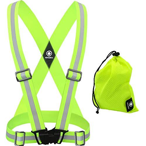 HiVisible Reflective Vest, Reflective Running Vest, Reflective Running Gear. Night Running Gear, Bike Vest, Reflector Vest with Safety Reflective -