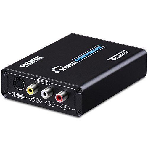 Tendak 3RCA AV CVBS Composite & S-Video R/L Audio to HDMI Converter Adapter Upscaler Support 720P/1080P with 3RCA S-Video Cable for DVD VCR PS2 PS3 Xbox HDTV (S Video To Hdmi Adapter)