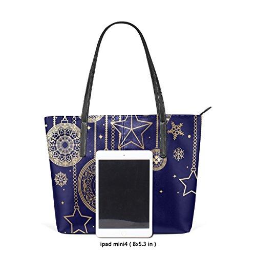 COOSUN borse pelle Bag per Natale Tote in tracolla PU borsa muticolour di sacchetto le A della medio donne e decorazioni rqxCwr