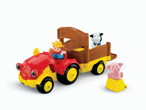 Fisher Price Toddler Pull Toy - Fisher-Price Little People Tow 'n Pull Tractor