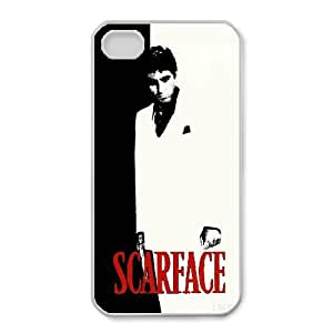 Al Pacino Scarface For iPhone 4,4S Cell Phone Case White BTY654328