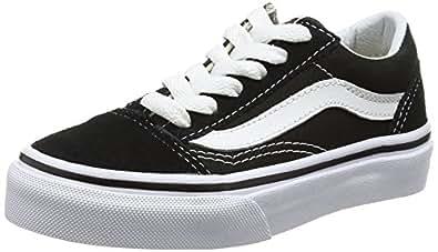 Vans Unisex Kids' Old Skool Trainers, (Black/True White 6Bt), 13 Child UK 31 EU,V00W9T6BT
