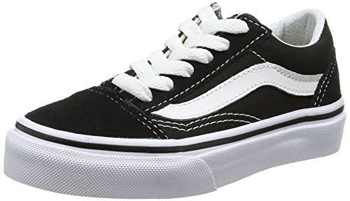 Vans Kids Old Skool Skate Shoe (4 M US, Black True White)