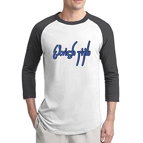 Elvish Ring Black Raglan Sleeves T Shirt For Men Black - (Lil Wayne Vice)