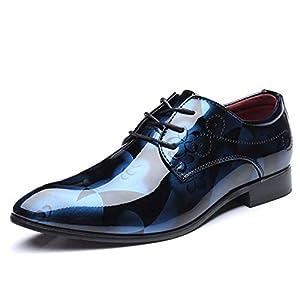 Scarpe Eleganti da Uomo Scarpe Oxford in Pelle Verniciata Scarpe da Uomo Formali Scarpe da Sposa da Uomo a Punta