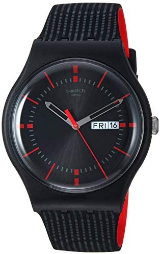 Swatch High-Lands Mix Quartz Silicone Strap, Black, 20 Casual Watch (Model: SUOB714) WeeklyReviewer
