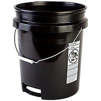 Hudson Exchange 5 Gallon Bucket with Bottom Grip Handle, HDPE, Black