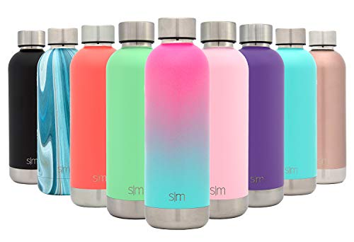 Aluminum Water (Simple Modern 25oz Bolt Sports Water Bottle - Stainless Steel - Double Wall Vacuum Insulated - Leak Proof Bottle Ombre: Sorbet)