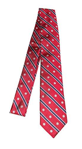 Vineyard Vines Men's Snowflake Stripe Skinny Tie Red
