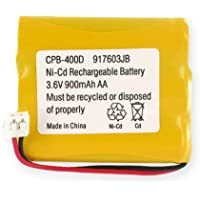 GE 26938GE1 Cordless Phone Battery Ni-CD, 3.6 Volt, 900 mAh - Ultra Hi-Capacity - Replacement for Rechargeable Battery