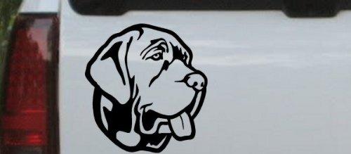 - Mastiff Dog Animals Car Window Wall Laptop Decal Sticker -- Black 3.2in X 3in