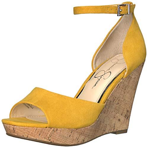 Jessica Simpson Women's JARELLA Sandal, Sunflower, 11 M US (Jessica Simpson Yellow Dress)