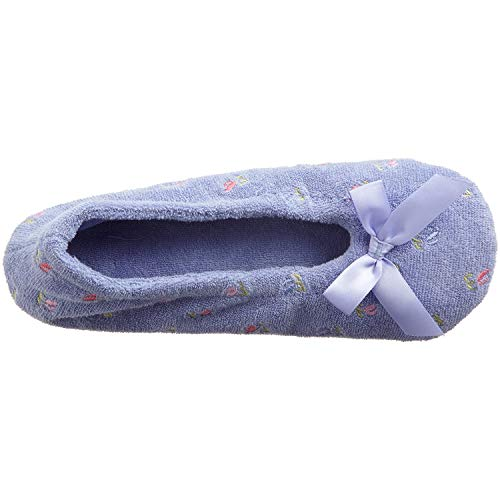 Embroidered Perriwinkle Women's Ballerina Terry Isotoner Slipper fqB5w