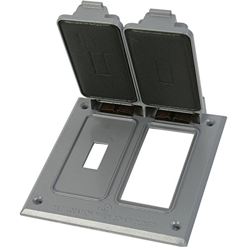 Made in USA Weatherproof Electrical Outlet Box Cover Gray