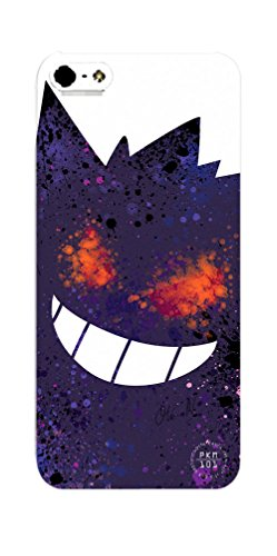 Pokemon Gengar Inspired iPhone 5 / 5s Case - Purple Halloween Ghost Type Hard (Ghost Pokemon This Is Halloween)